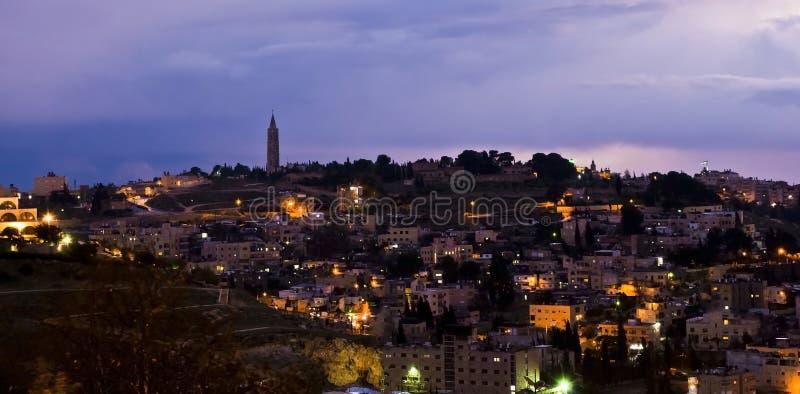 Jerusalem, Israel - night view stock photography