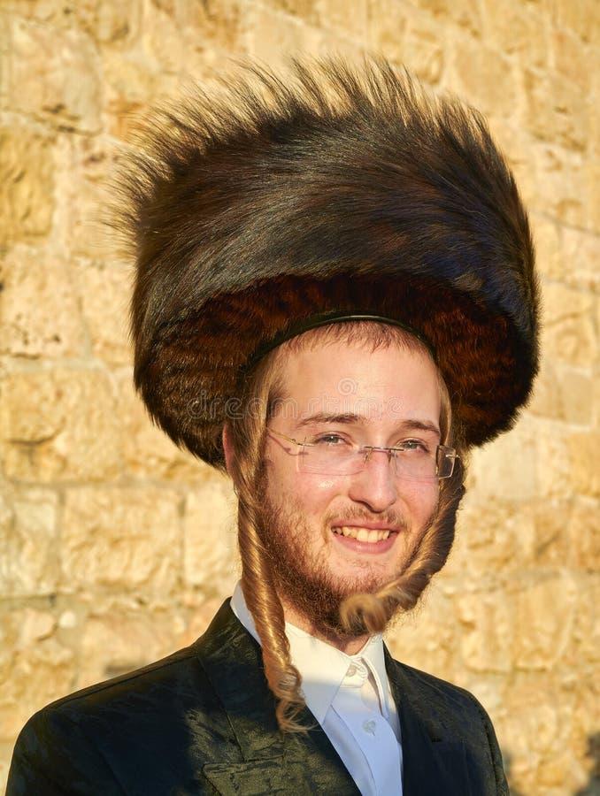 Jerusalem Israel. Orthodox jews praying at the wailing wall stock photo