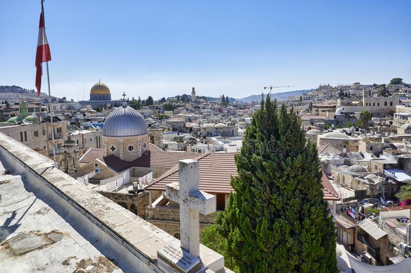Jerusalem Israel. View of the old city royalty free stock photos