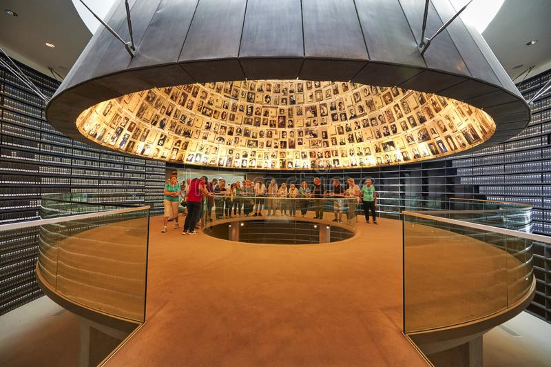 Jerusalem Israel. Yad Vashem. Memorial to the victims of the holocaust. The Hall of names royalty free stock photo