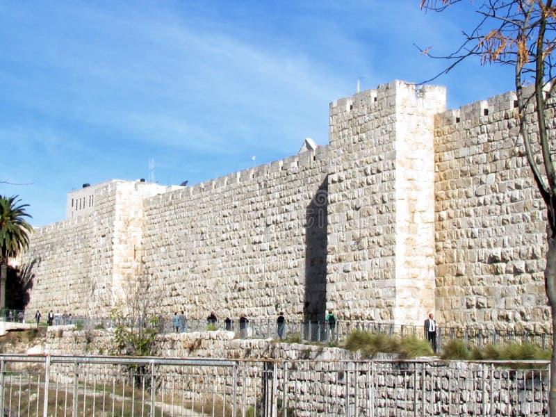 Jerusalem Jaffa Gate ancient wall 2012 royalty free stock image