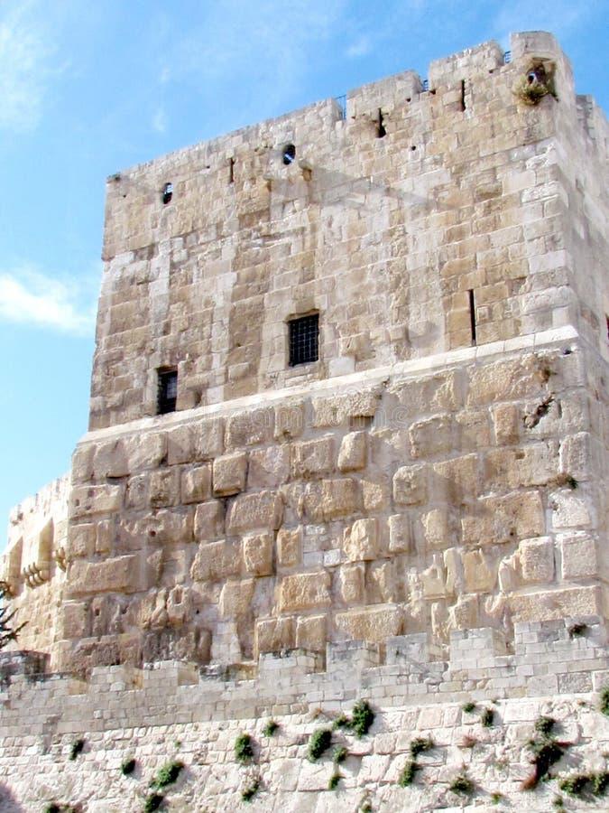 Jerusalem Jaffa port forntida David Citadel 2012 arkivfoton