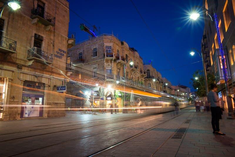JERUSALEM Jaffa Road stock image
