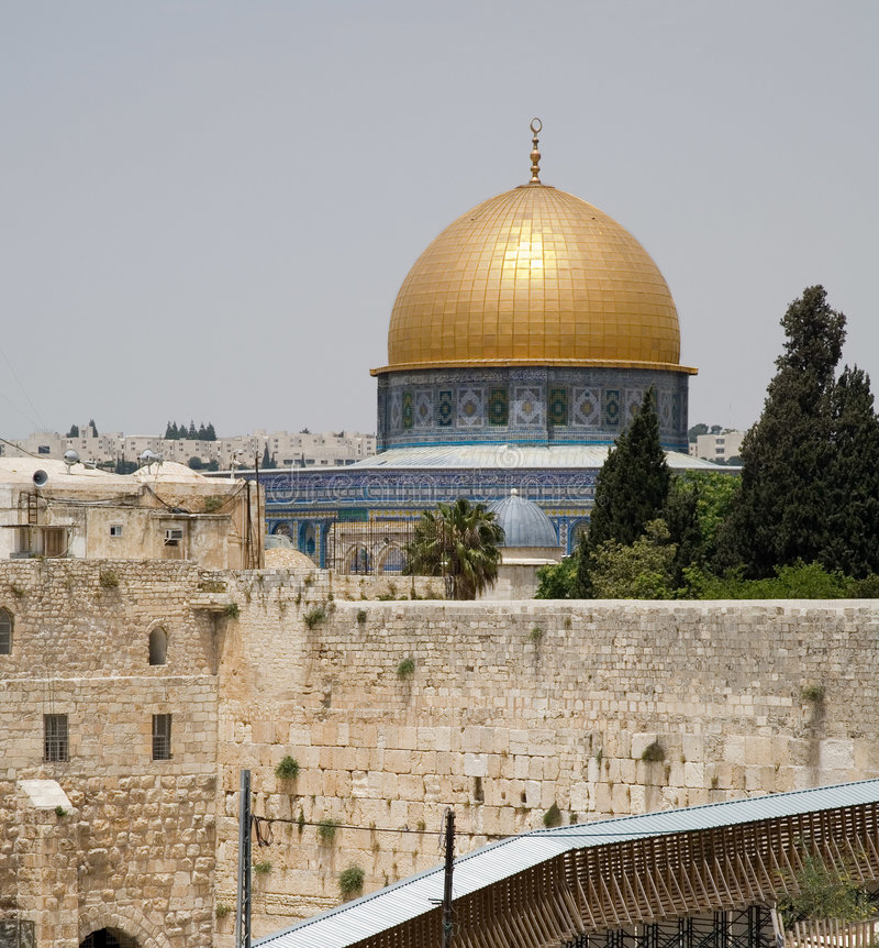 Jerusalem-Klagemauer und Tempelmontierung stockfotografie