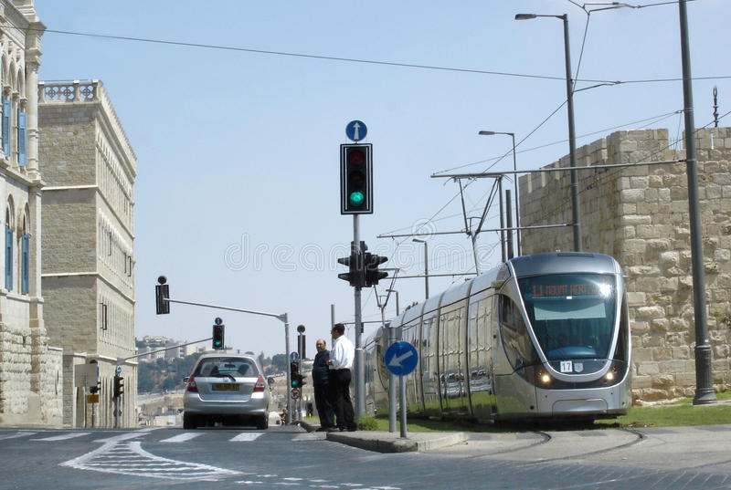 Download Jerusalem Light Rail editorial stock image. Image of speed - 28964239