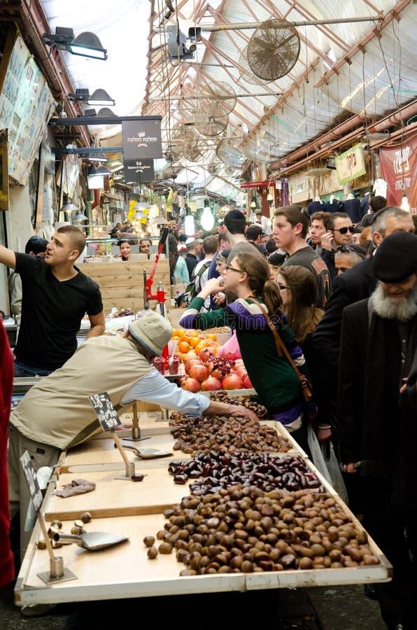 Jerusalem market stock images