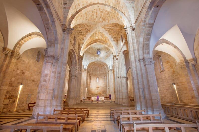 Jerusalem - The nave of St. Anne church. Jerusalem - The gothic nave of St. Anne church stock photography
