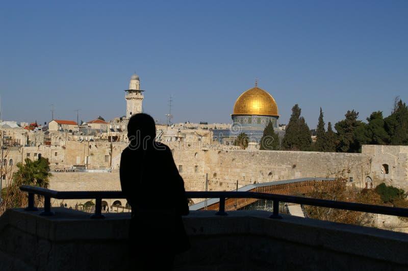 Jerusalem old city - dome of t royalty free stock image