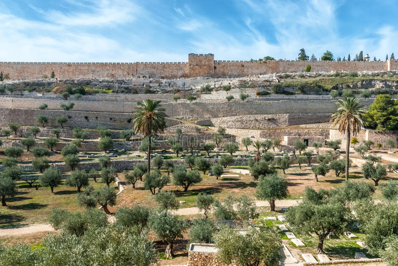 Jerusalem old walls, Israel royalty free stock photography