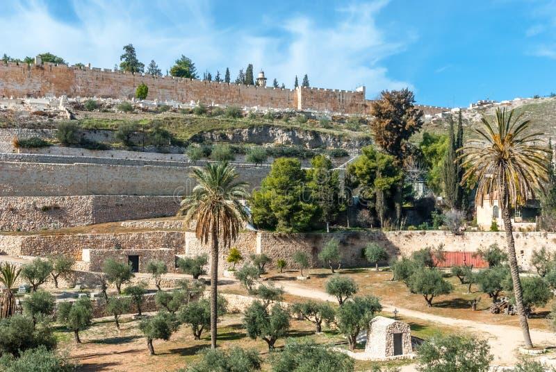 Jerusalem old walls, Israel stock images