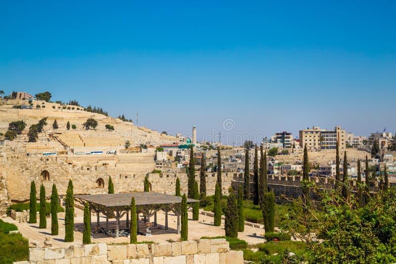 Jerusalem Palestina, Israel-Augusti 14, montering 2015-Temple i den gamla staden royaltyfri bild