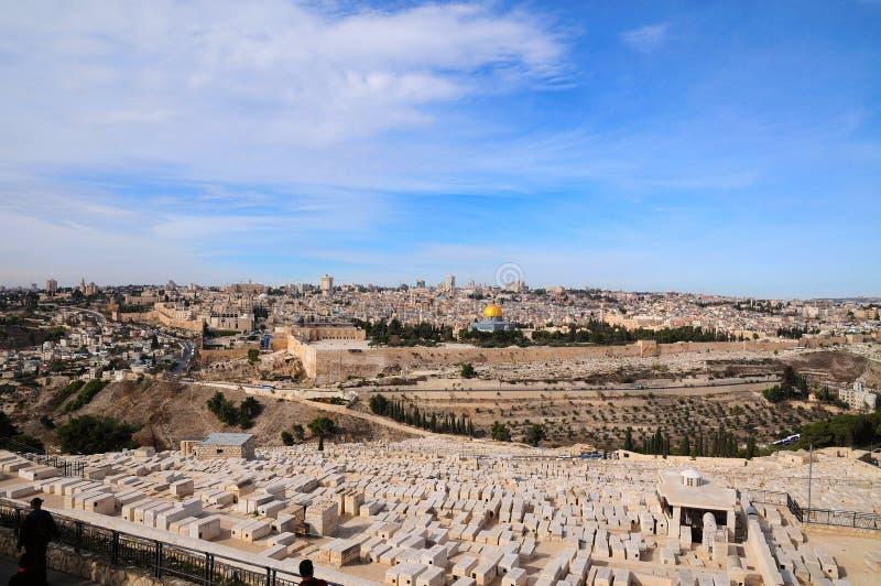 jerusalem panorama royaltyfri foto