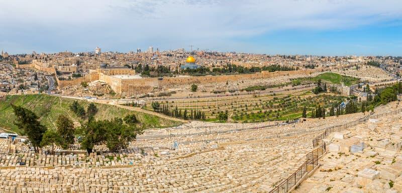 Jerusalem panorama arkivfoto
