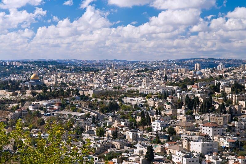 jerusalem panorama obrazy royalty free