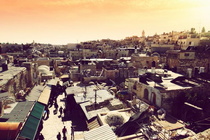 Jerusalem panoramma lizenzfreie stockfotos