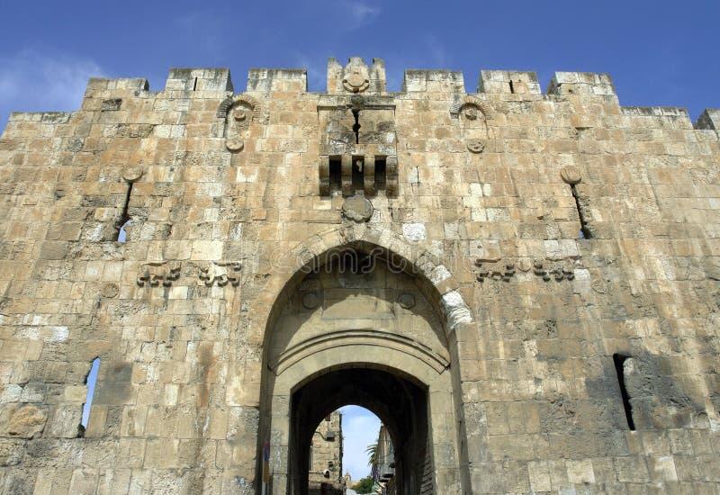 Jerusalem, porta do A. do leão.; fotografia de stock