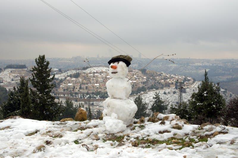 Jerusalem-Schneemann lizenzfreies stockbild