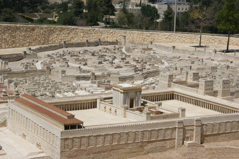 Jerusalem, Second Temple stock image