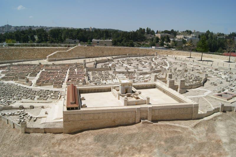 Jerusalem, segundo templo fotos de stock royalty free