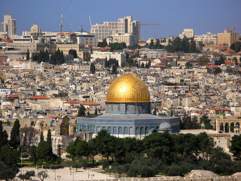 Download Jerusalem Skyline With Dome Of The Rock Stock Image - Image: 4621543