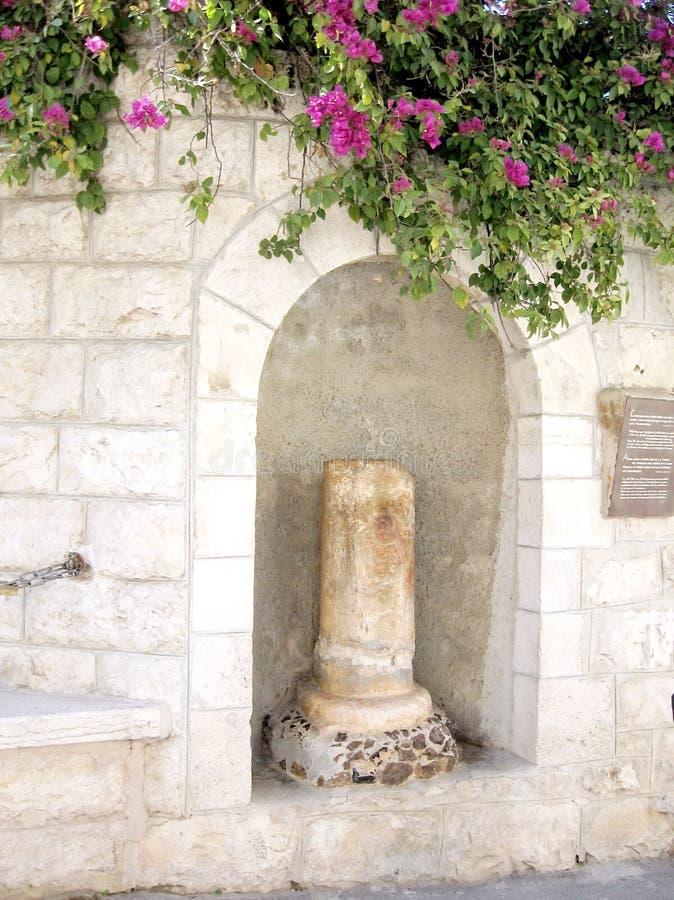 Jerusalem-Spalte des Kusses von Judas 2008 stockfoto
