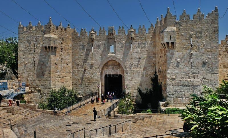 jerusalem Staden går royaltyfri bild