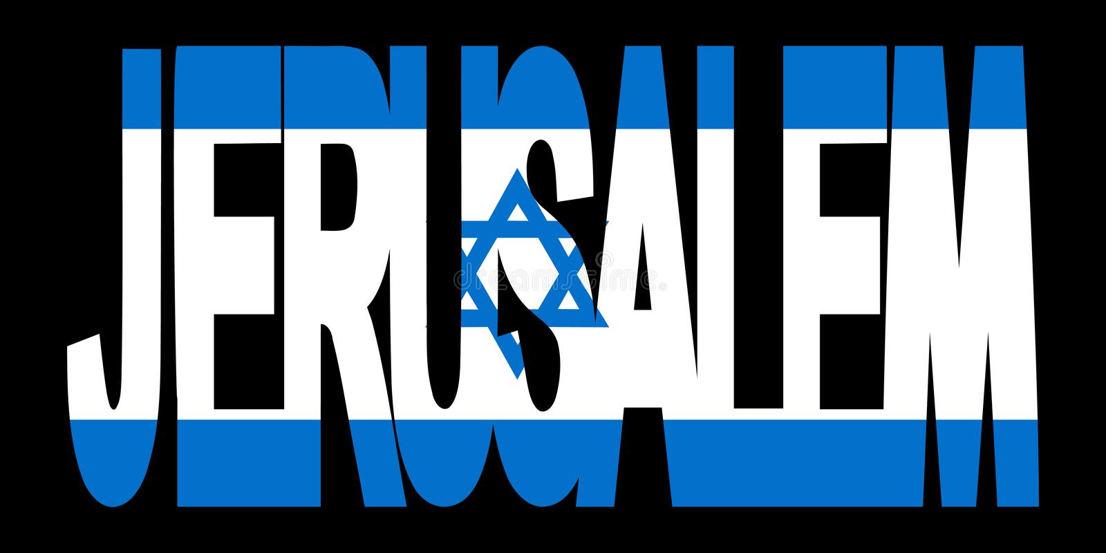 Download Jerusalem Text With Flag Stock Images - Image: 4370134