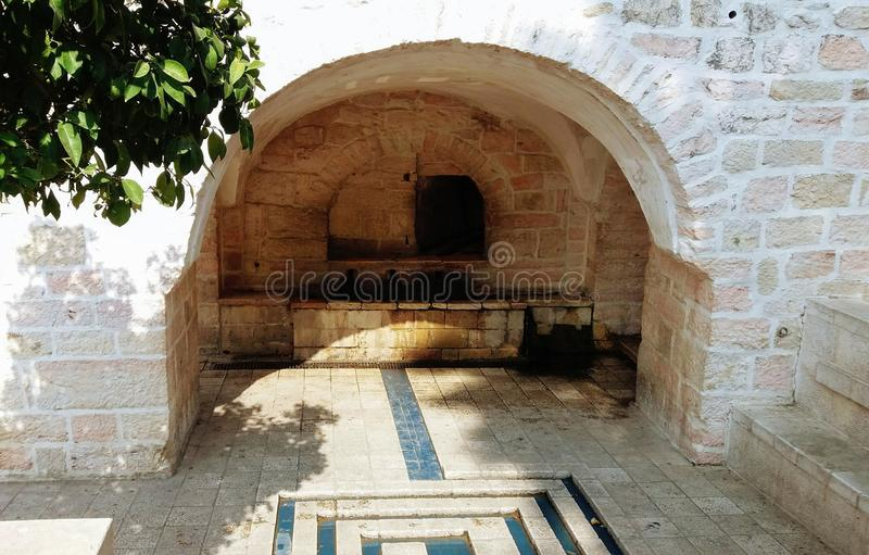 Miriam's well in the village Ein Karem royalty free stock photos