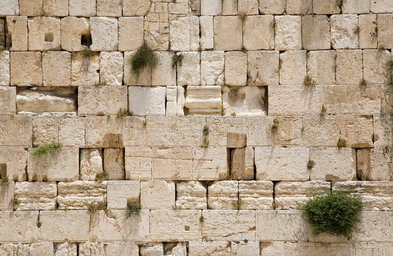 The Jerusalem wailing wall - closeup stock photos