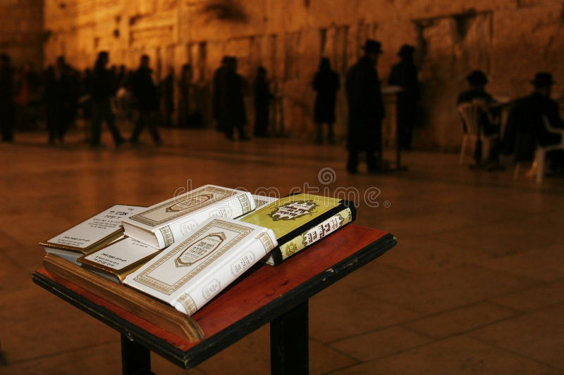 THE JERUSALEM WAILING WALL AT NIGHT stock photography
