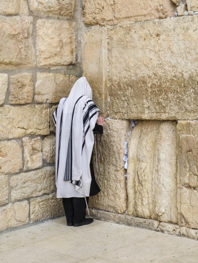 Jerusalem, Western Wall. For  many centuries it has been a symbol of the faith and hope of many generations of Jews, a place of their stock image