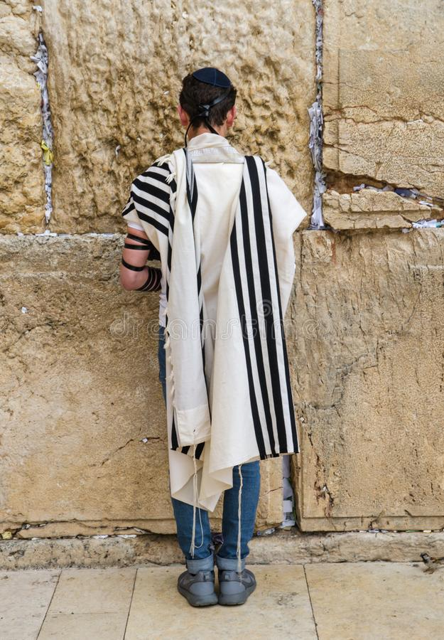 Jerusalem, Western Wall. For  many centuries it has been a symbol of the faith and hope of many generations of Jews, a place of their royalty free stock image