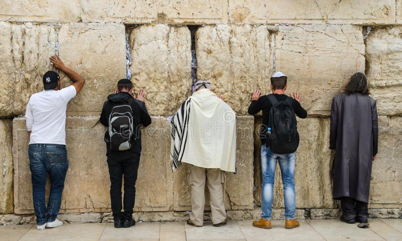 Jerusalem, Western Wall. For  many centuries it has been a symbol of the faith and hope of many generations of Jews, a place of their royalty free stock photo