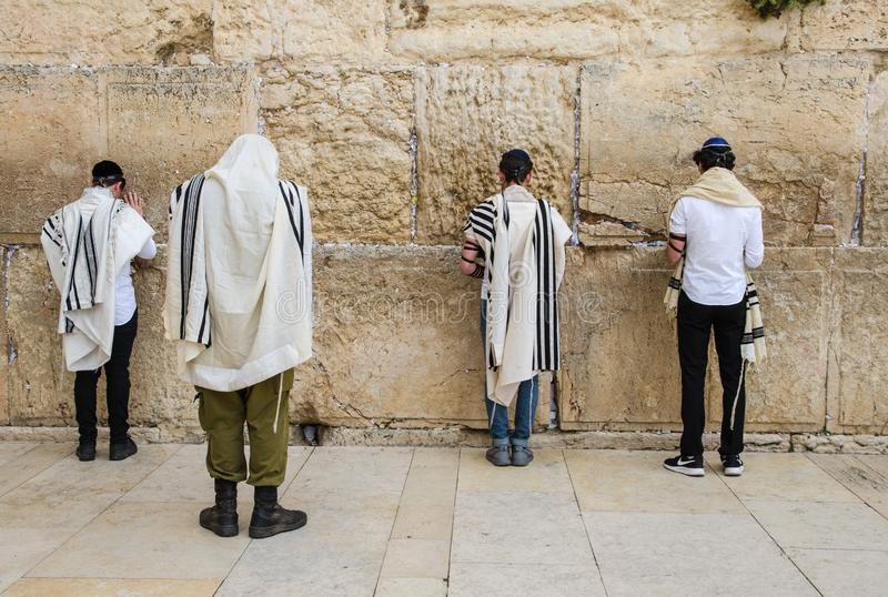 Jerusalem, Western Wall. For  many centuries it has been a symbol of the faith and hope of many generations of Jews, a place of their stock photography