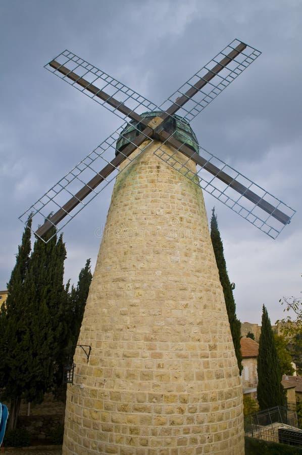 Jerusalem windmill royalty free stock photo