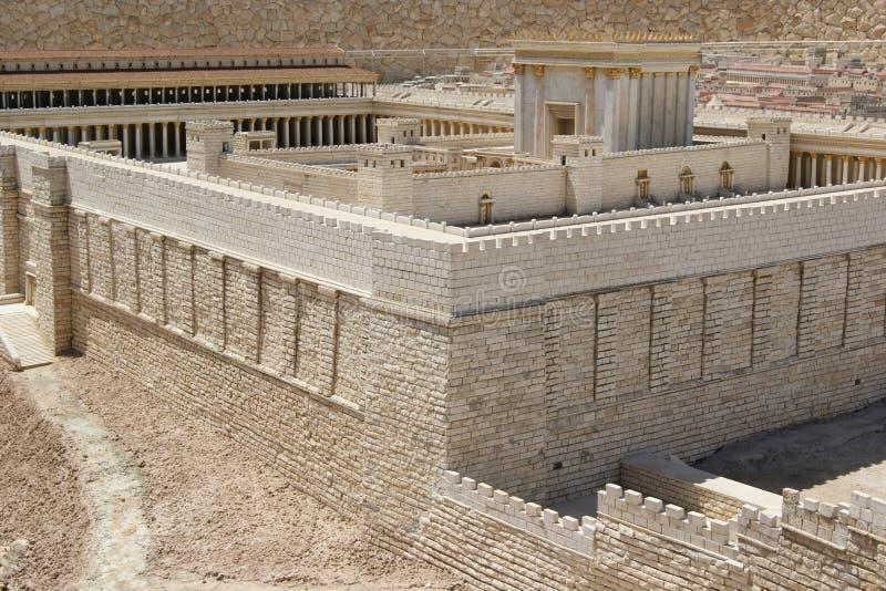 Jerusalem, zweiter Tempel lizenzfreies stockfoto