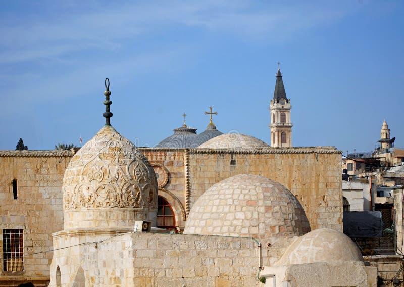 Jeruzalem, Één stad, vele geloofsovertuigingen stock afbeelding