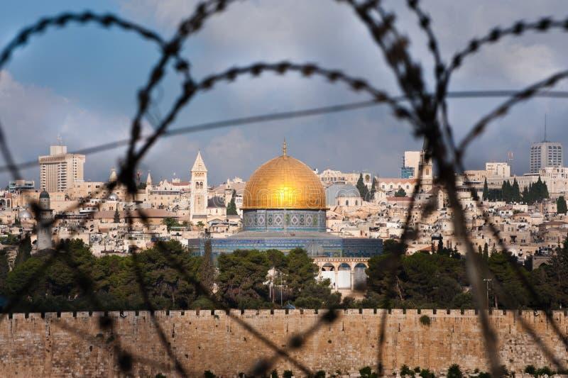 Jeruzalem door de Draad van het Scheermes royalty-vrije stock foto