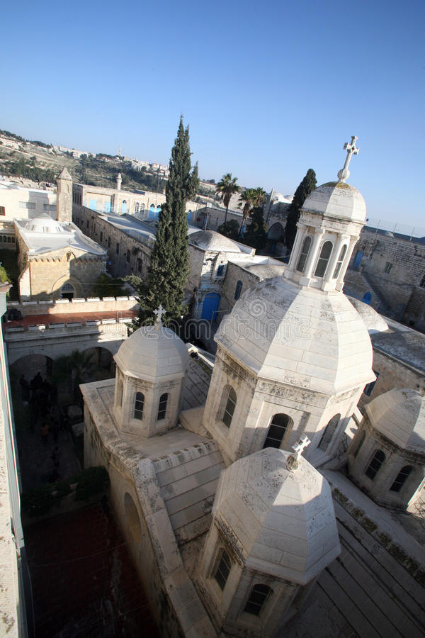 Jeruzalem-Franciscan Kapel van de Veroordeling royalty-vrije stock afbeelding