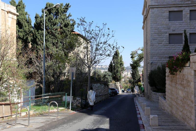Jeruzalem - het kapitaal van de staat Israël stock fotografie