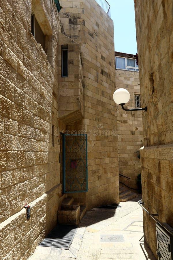 Jeruzalem - het kapitaal van de staat Israël stock afbeelding