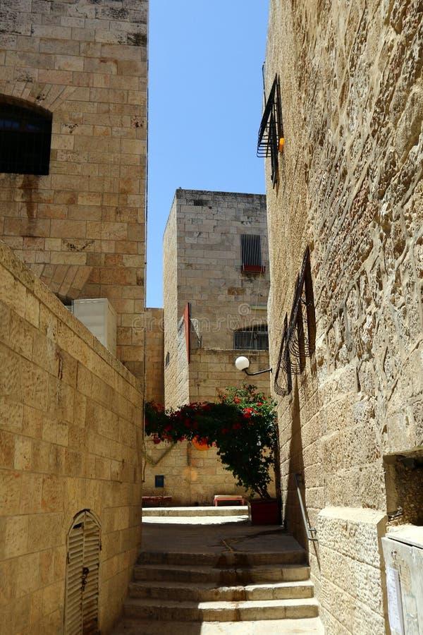 Jeruzalem - het kapitaal van de staat Israël stock foto's