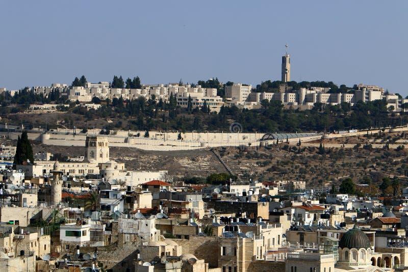 Jeruzalem - het kapitaal van de staat Israël royalty-vrije stock afbeelding