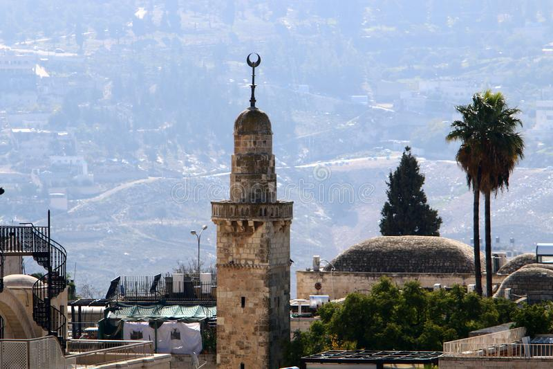 Jeruzalem - het kapitaal van de staat Israël royalty-vrije stock foto's