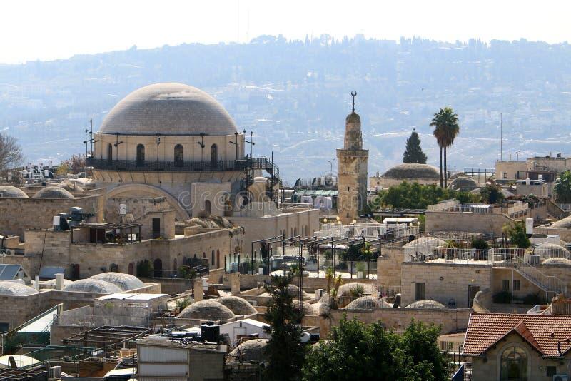 Jeruzalem - het kapitaal van de staat Israël stock foto