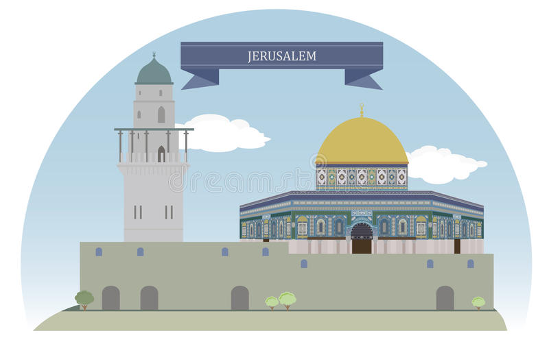 Jeruzalem, Israël royalty-vrije illustratie