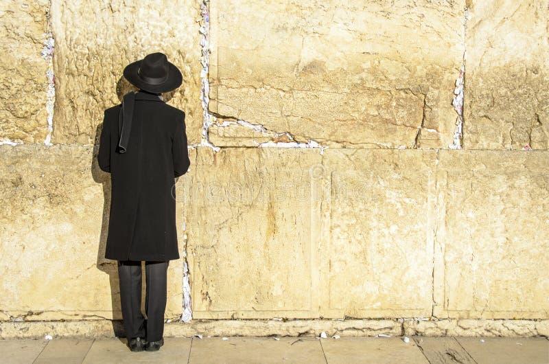 Jeruzalem, Israël bij de Westelijke Muur royalty-vrije stock afbeelding