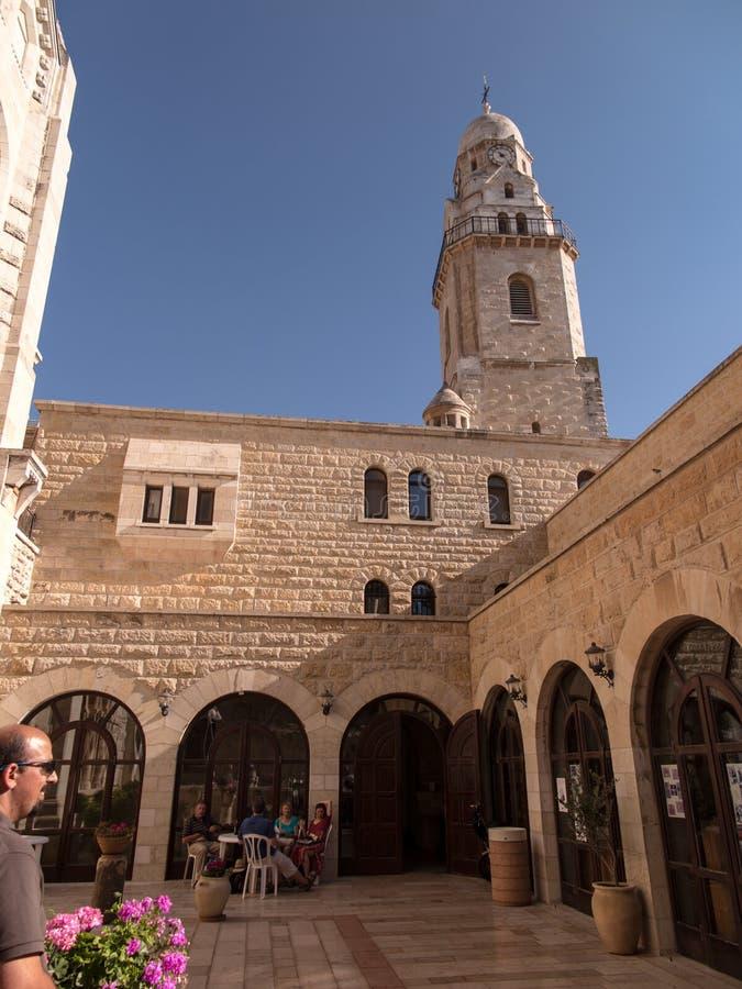 JERUZALEM, ISRAËL - JULI 15, 2015: Basiliek van Dormition op Onderstel Zion in Jeruzalem stock foto