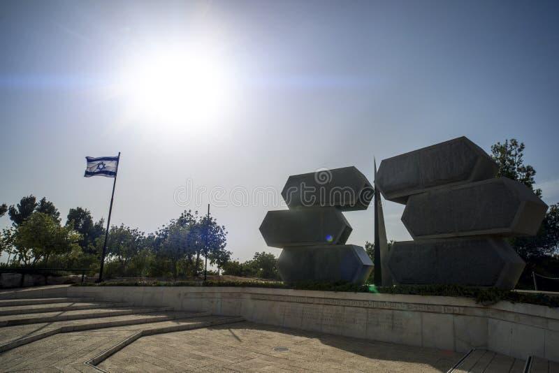 Jeruzalem, Israël 24 Oktober 2018: Yad Vashem, het officiële binnen gevestigde gedenkteken van Israël aan de Joodse slachtoffers  royalty-vrije stock afbeelding
