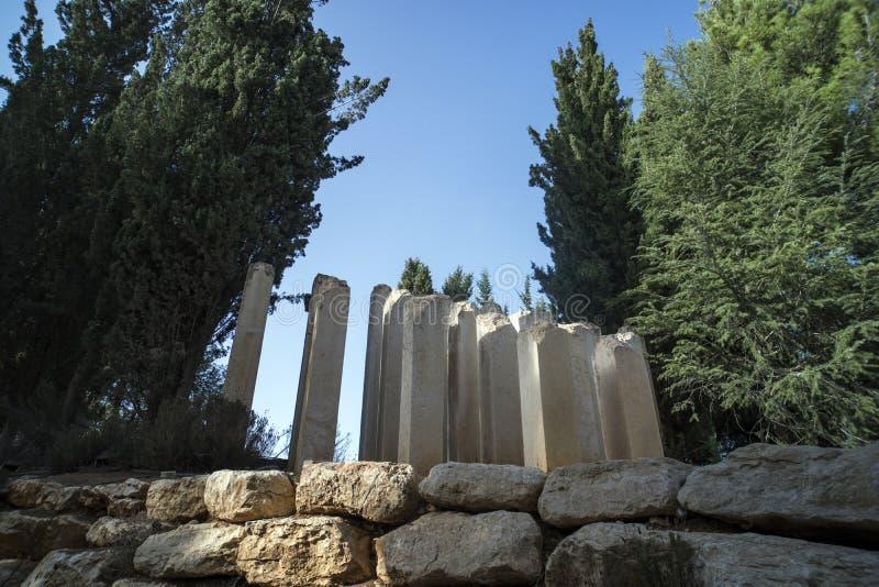 Jeruzalem, Israël 24 Oktober 2018: Yad Vashem, het officiële binnen gevestigde gedenkteken van Israël aan de Joodse slachtoffers  royalty-vrije stock afbeeldingen